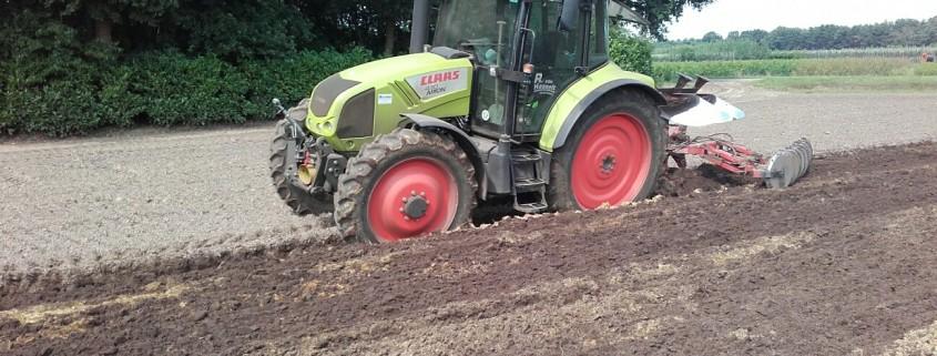 Het ploegen van uw grond