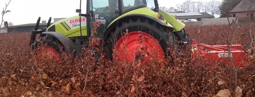 Los rijden van bos en haagplantsoen