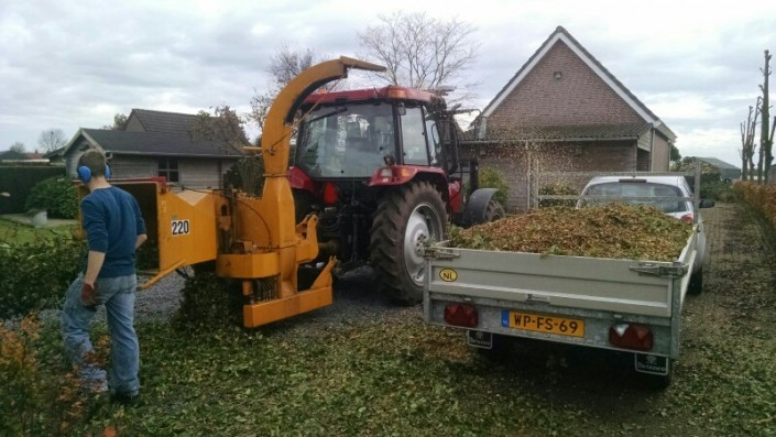 Het versnipperen van alle soorten hout Breda